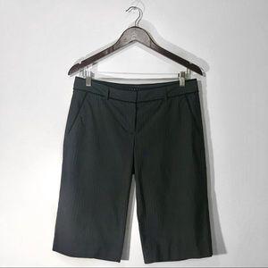 Theory Pinstripe Palmer Bermuda Dress Shorts